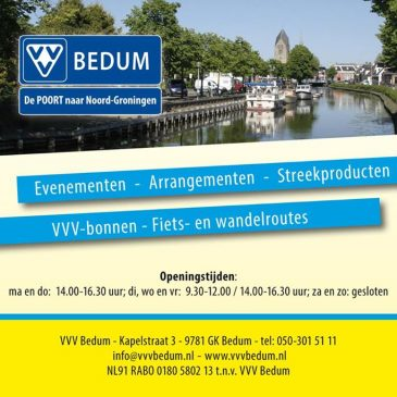 VVV BEDUM, de POORT naar Noord Groningen heeft de …