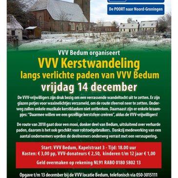Geef je op voor de VVV Kerstwandeling.
